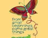 Butterfly Beginnings Print / Julz Nally