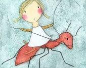 PRINT - Girl on Ant