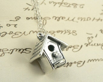 Birdhouse In Your Soul sterling silver necklace jewelry