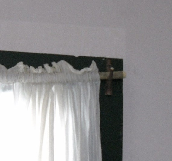 Rustic Branch Curtain Rod Set by MapleSeedsofMaine on Etsy