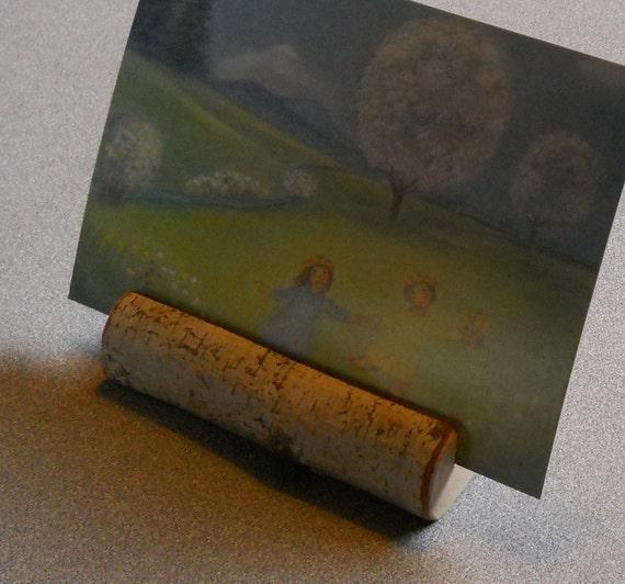 Postcard Holder Nature Seasonal Shelf