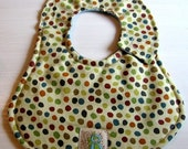 SALE-Fall Dots Infant Boy Bib