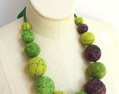 Big Baller Necklace - Green/Chartreuse Stitched