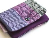 Lil' Pouch - Handwoven Purple Twills