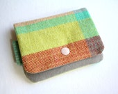 Lil' Pouch - Handwoven Red/Chartreuse/Aqua
