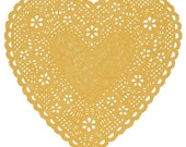Heart Doily Art Print by Ashley G - Much Love (Natural)