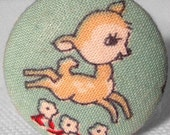 Retro Reindeer Fabric Pin