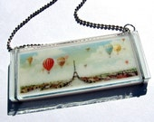 Ballooning Over Paris Glass Necklace