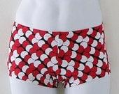 Mens Red and Black TruBlood Print Low Rise Square Cut Swimsuit in S.M.L.XL