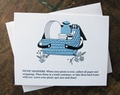 Picnic Manners note card
