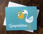 Cute New Baby Card, Shower, New Parents - Pelican Mom