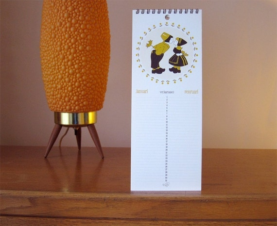 Dutch Themed Birthday Calendar