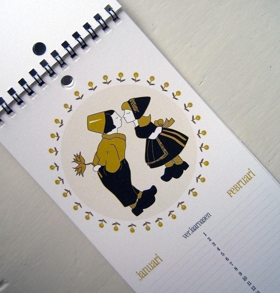 Dutch Themed Birthday Calendar