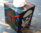 Star Wars Tissue Box Cover Geekery Hand Painted by Debbie Is Adopted