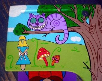 Alice In Wonderland Hand Painted School Desk