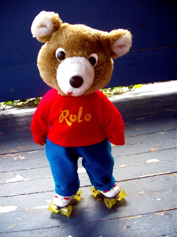 Rolo Roller Skating Teddy Bear By Debbieisadopted On Etsy