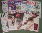 magazine lot - beading & jewelry