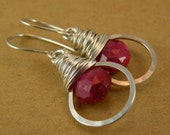 Ruby Wrapped Hoops