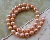 Vintage Peach Plastic Pop Beads