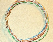 Category 5 Cable Bracelet Gift 4 Your Favorite Techie or Geek Size X Large