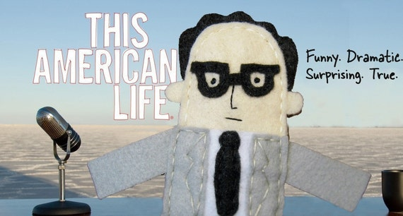 Ira Glass Finger Puppet