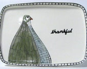 SALE thankful platter