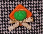 Handmade pumpkin pin/pendant