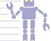Purple Robot Stationary