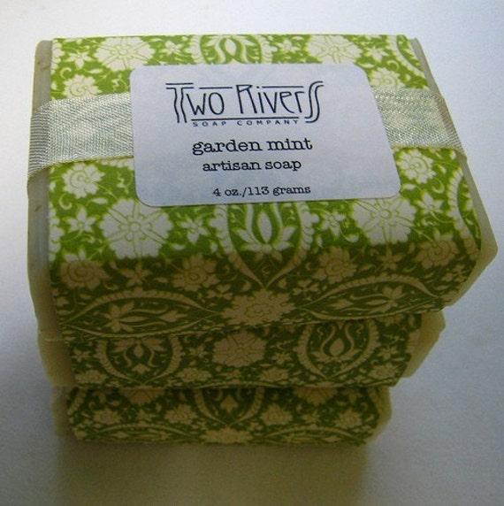Garden Mint Soap with Shea Butter - VEGAN 4 oz. bar