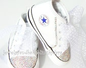 Baby Bling Boy Girl Infant Converse DIAMOND Swarovski Sneakers Shoes