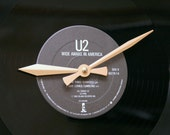 "U2 - ""Wide Awake in America"" 12 inch Vinyl Record Clock"