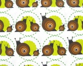 Fabric - snail - HALF YARD - Original design fabric - limited edition - Snips and Snails