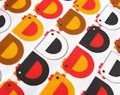 Cluckety Cluck - HALF YARD - original fabric design - limited edition