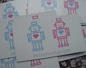 Robot Lovers Fridge Magnet