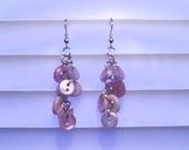 Cute Vintage Purple Button Earrings