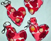 Girlie Soft Clip on Heart Keychain PIF