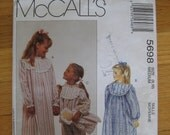 Grils' Lanz of Salzburg nightgown/ PJ's/booties/doll  sewing pattern size 8, 10 from McCall's