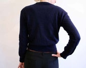 Wool navy blue sweater