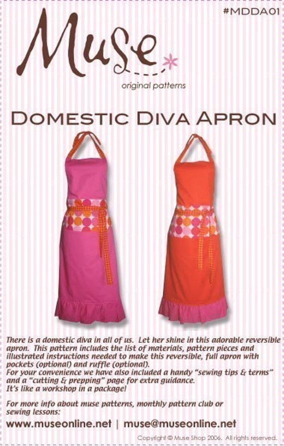 dating divas apron pattern With a rich heritage dating back to the early 1800's bistro diy apron this homemade slipper pattern will do the trick.