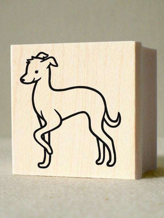 Greyhound Rubber Stamp