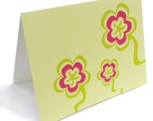 Flower note cards boxed set of 6 FREE DOMESTIC SHIPPING