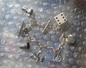 Vintage Monopoly Game piece Charm Bracelet