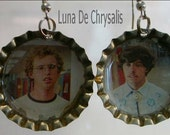 napoleon and pedro bottlecap earrings
