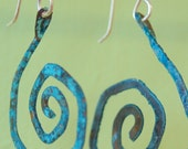 Blue Copper Swirls