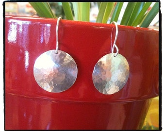 Hammered Silver Sparkly Disc-o Fun