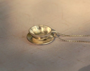Sterling Silver Teacup