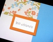let's celebrate color and pattern blocked card