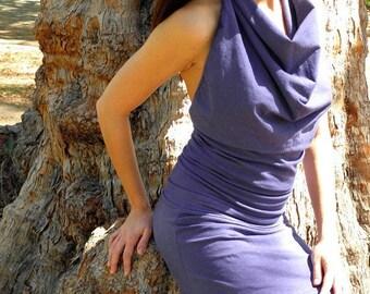 White Tara MINI Halter Dress. Organic cotton hemp. Made to order.