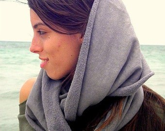 The Totally Tubular Scarf in Organic Hemp Fleece. Dyed to order.