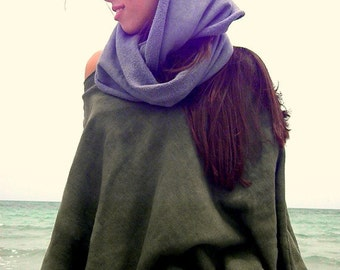 The Fleece Poncho in Organic Hemp. Made to order.